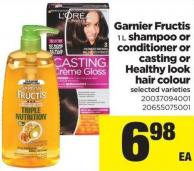 Garnier Fructis - 1 L Shampoo Or Conditioner Or Casting Or Healthy Look Hair Colour