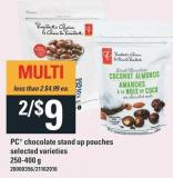 PC Chocolate Stand Up Pouches - 250-400 g