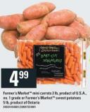 Farmer's Market Mini Carrots 2 Lb - Or Farmer's Market Sweet Potatoes 5 Lb