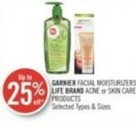 Garnier Facial Moisturizers - Life Brand Acne or Skin Care Products