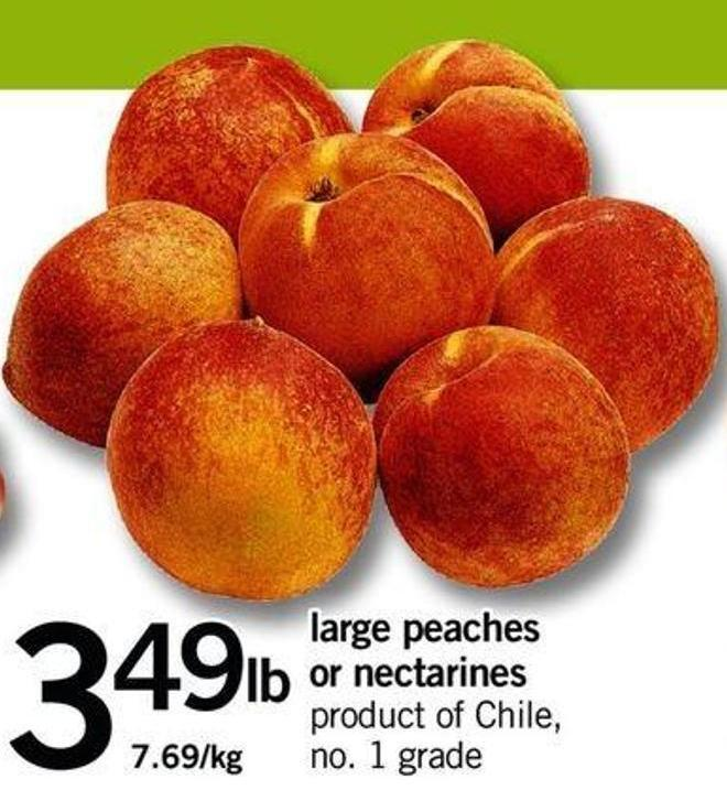 Large Peaches Or Nectarines