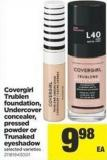 Covergirl Trublen Foundation - Undercover Concealer - Pressed Powder Or Trunaked Eyeshadow
