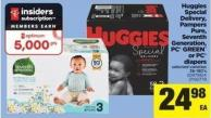 Huggies Special Delivery - Pampers Pure - Seventh Generation - PC Green Or PC Diapers - 36-180's