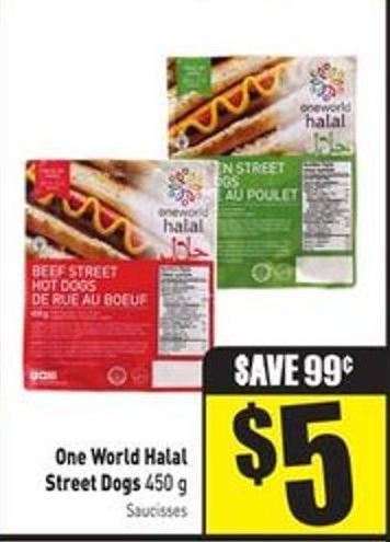 One World Halal Street Dogs 450 g