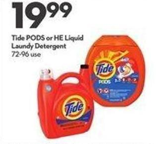 Tide PODS or HE Liquid Laundry
