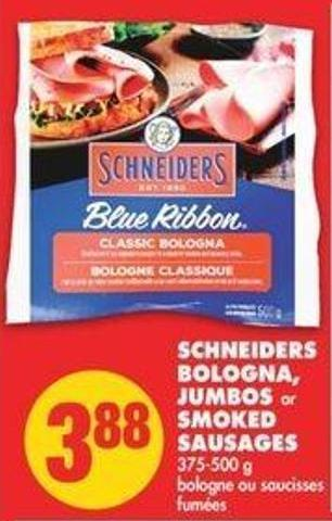 Schneiders Bologna - Jumbos or Smoked Sausages - 375-500 g