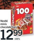 Nestlé Minis Chocolate Bars - 100's