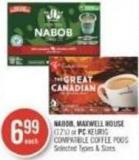 Nabob - Maxwell House (12's) or PC Keurig Compatible Coffee PODS