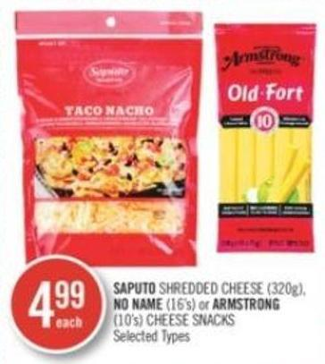 Saputo Shredded Cheese (320g) - No Name (16's) or Armstrong (10's) Cheese Snacks