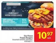 Our Finest Frozen Burgers