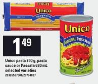 Unico Pasta 750 G - Pasta Sauce Or Passata 680 Ml