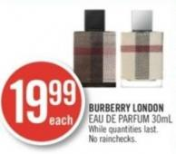 Burberry London Eau de Parfum (30 Ml)