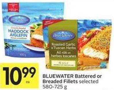 Bluewater Battered or Breaded Fillets Selected 580-725 g