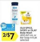 Old Spice - Ivory or Olay Body Wash - 5 Air Miles