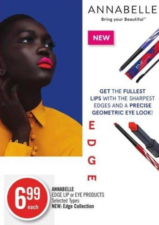 Annabelle Edge Lip or Eye Products
