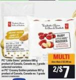 PC Little Gems Potatoes - 680 G Or PC Creamy Golden Potatoes - 907 G