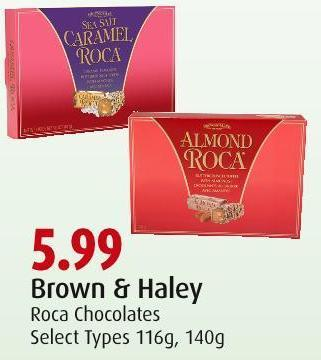 Brown & Haley Roca Chocolates