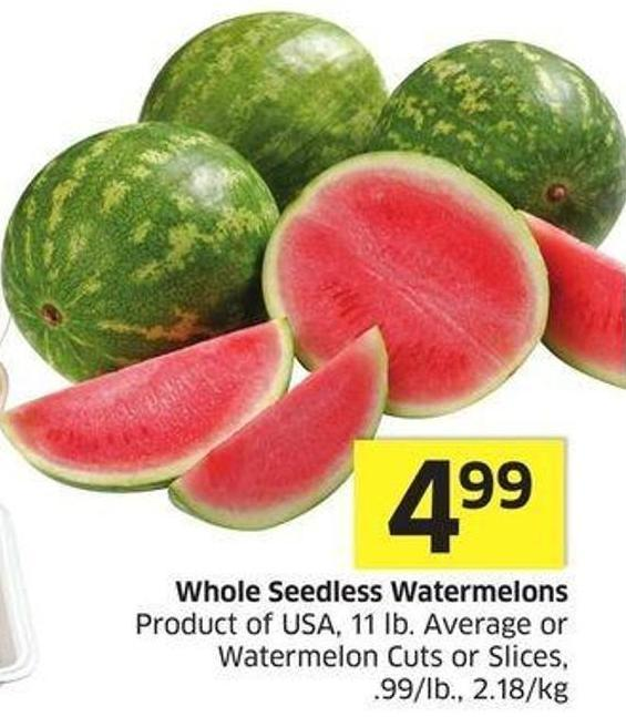 Whole Seedless Watermelons Product Of USA