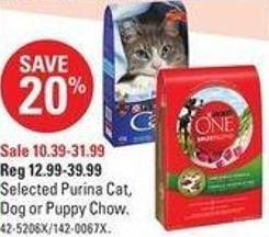 Selected Purina Cat - Dog or Puppy Chow