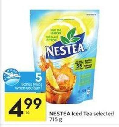 Nestea Iced Tea - 5 Air Miles Bonus Miles