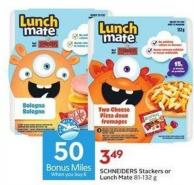 Schneiders Stackers or Lunch Mate 81-132 g - 50 Air Miles Bonus Miles