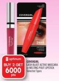Covergirl Lash Blast Active Mascara or Melting Pout Lipstick
