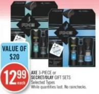 Axe 3-piece or Secret/olay Gift Sets