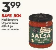 Neal Brothers  Organic Salsa 410ml Jar