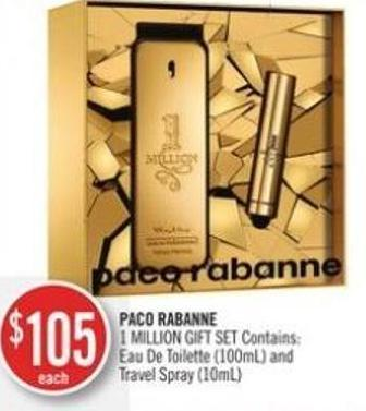 Paco Rabanne 1 Million Gift Set Contains