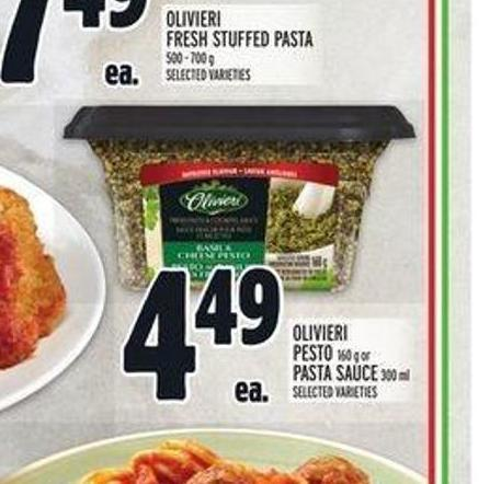 Olivieri Pesto 160 g or Pasta Sauce 300 ml