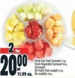 Fresh Cut Fruit Carousel 1.4 Kg Fresh Vegetable Carousel 955 g