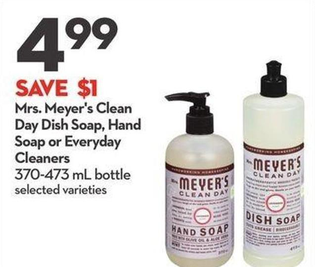 Mrs. Meyer's Clean Day Dish Soap - Hand Soap or Everyday Cleaners