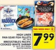 High Liner Pan-sear Fish Fillets Or Irresistibles Pacific Cooked White Shrimp