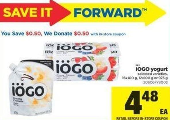 IOGO Yogurt - 16x100 G - 12x100 G Or 975 G