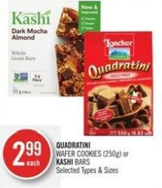 Quadratini Wafer Cookies (250g) or Kashi Bars