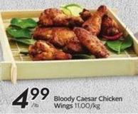 Bloody Caesar Chicken Wings