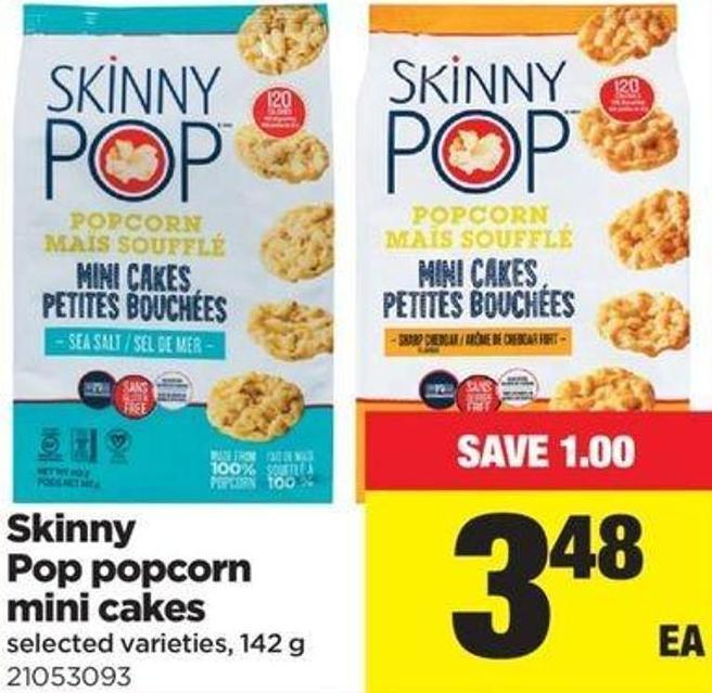 Skinny Pop Popcorn Mini Cakes - 142 G