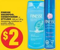 Finesse Shampoo - Conditioner or Styling - 300 Ml/150 g