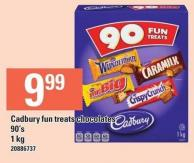 Cadbury Fun Treats Chocolates 90's 1 Kg