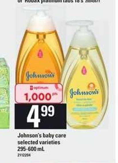 Johnson's Baby Care - 295-600 Ml