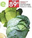 Cabbage Green - Red or Savoy Canada No 1
