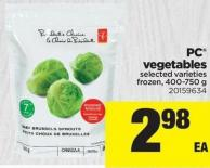 PC Vegetables - 400-750 g