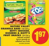 Nature Valley Granola Bars 130-230 g - Betty Crocker - Gushers & Mott's Fruit Snacks 120-226 g