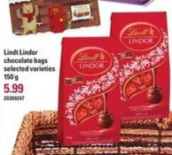 Lindt Lindor Chocolate Bags - 150 g