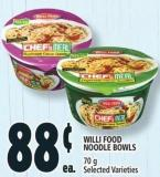 Willi Food Noodle Bowls