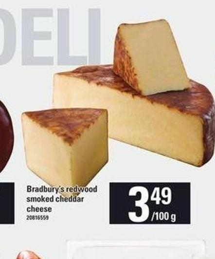 Bradbury's Redwood Smoked Cheddar Cheese