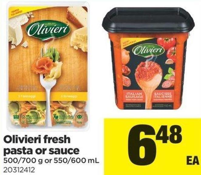 Olivieri Fresh Pasta Or Sauce - 500/700 g or 550/600 mL
