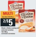 Kraft Shake 'N Bake Coating Mix - 142-180 g