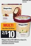 Häagen-dazs - 414-500 Ml Or Bars 3's