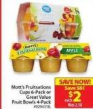 Great Value Fruit Bowls 4-pack